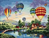 """Dimensions Crafts Gold Collection Balloon Glow Counted Cross Stitch Kit 16""""X12"""" 35213"""