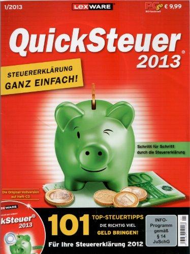 LexWare Quicksteuer 2013 - Für Ihre Steuererklärung 2012 [PC-GO 1/2013 + Original Vollversion auf Heft-DVD] Go Und Pc