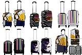 Hartschalen Kofferset 2-teilig mit 4 Rollen - Leichte Reisekoffer mit Polycarbonat Schalen und Teleskop Trolley Griff verschiedene Designs
