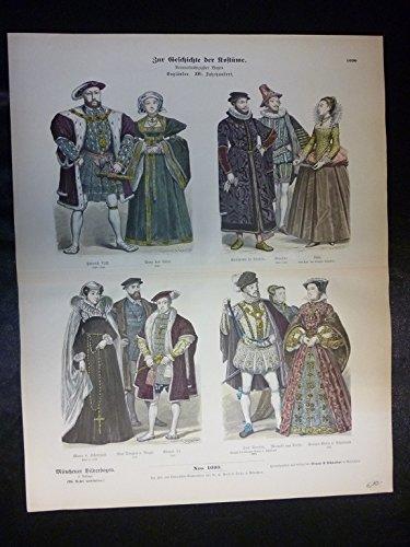 Kostüm Engländer - Zur Geschichte der Kostüme - Nr. 1090 - Engländer. XVI. Jahrhundert.