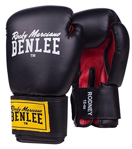BENLEE Rocky Marciano Boxhandschuhe Training Gloves Rodney, Schwarz/Rot, 12, 194007 -