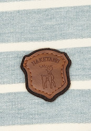 Damen Kapuzenpullover Naketano Blauer Sack & 9 mm Hoodie Wiederkäuer Grün Melange
