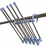 Stainless steel trousers multi - functional wardrobe balcony bedroom home trousers hangers,Blue