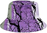 Photo de hgdfhfgd Sun Hat for Men/Women,Outdoor Packable Travel Bucket Cap Hats for Safari Fishing Hiking Beach Golf-Abstract Moon Tree Purple par hgdfhfgd