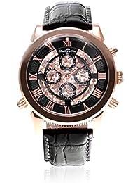 Lindberg & Sons Herren-reloj analógico de pulsera automático de cuero SK14H013