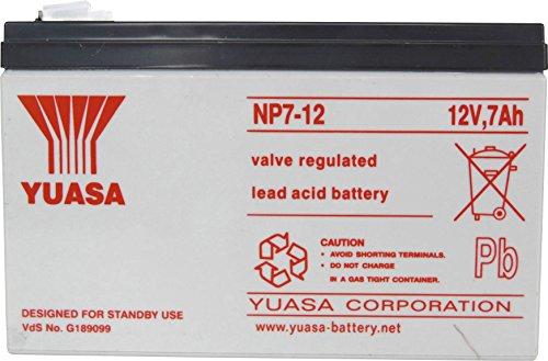 Yuasa NP7-12 AGM S65 - 12V 7.0Ah - Acide de plomb scellée batterie rechargeable