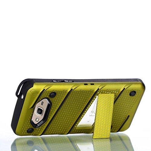 EKINHUI Case Cover Ultra Thin Slim Dual Layer PC + Soft TPU Back Schutzhülle Case [Shockproof] mit Kickstand für Samsung Galaxy G530 ( Color : Rosegold ) Green