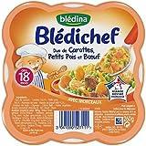 Blédina blédichef duo carottes, petits pois et boeuf 260g dès 18 mois - ( Prix Unitaire ) - Envoi Rapide Et Soignée