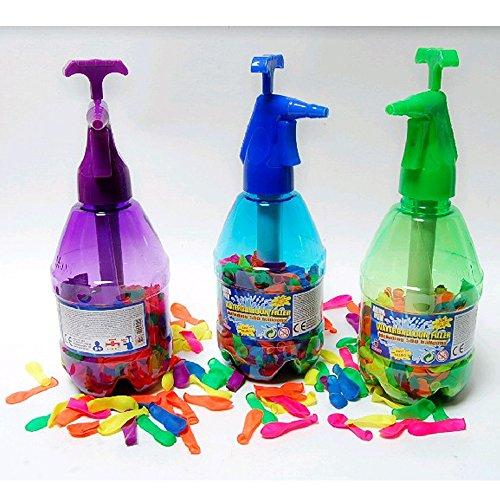 3x Wasserballon-Befüller: 3 Flaschen inklusive 750 Wasserbomben