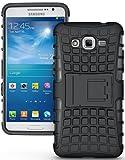 Voguecase® Para Samsung Galaxy Grand Prime G530, Funda Carcasa Duro Tapa Case Cover con soporte (negro) + Gratis aguja de la pantalla stylus universales