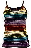 Guru-Shop Stonewash Goa Top, Damen, Regenbogen 13, Baumwolle, Size:S/M (36),Tops, T-Shirts, Shirts Alternative Bekleidung