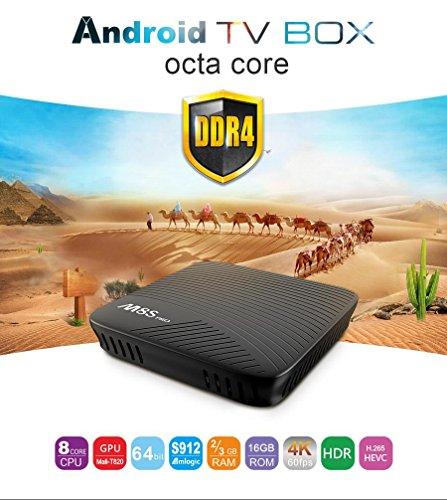 MECOOL M8S Pro Amlogic S912 4K TV Box Android 7.1 3GB DDR4 32G eMMC 8 Core 64 Bit HDR10 802.11AC WiFi LAN Bluetooth H.265