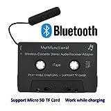 iTape Kassettenadapter Auto Bluetooth Arbeit beim Laden Unterstützung TF Karte CSR Bluetooth V4.1 + EDR Stereo Audio Receiver Adapter für Auto