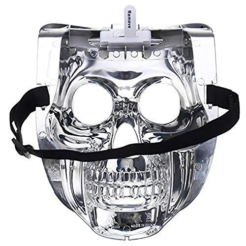 Halloween Kostüm Led Maske, Horror Maske Purge Maske Scary Maske Zombie Skull Maske mit Bunten Lichtern für Halloween, Party Maske