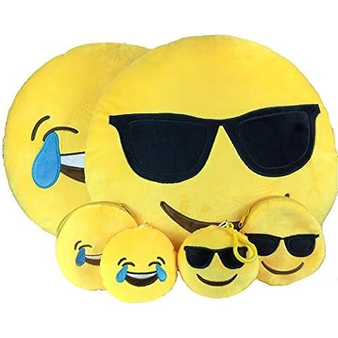 Emoji Cuscino Free portachiavi catena e morbido denaro Portafoglio Portamonete