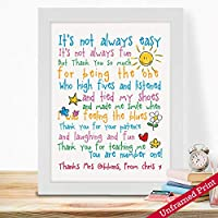 Personalised Gifts For Teachers Male Female Birthday Leaving End Of Term Year From Children Students School Classrooms Daycare Kindergarten Preschool Appreciation Thank You Ideas Thank You Poem Print