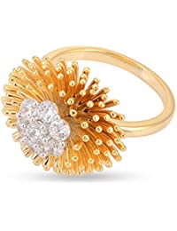 Tistabene Retails Floral Designer Cocktail Stylish Party Wear Finger Ring For Girls And Women (RI-0543)