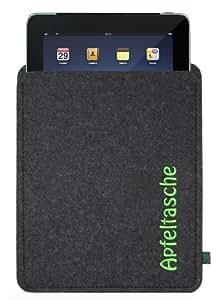 Filztasche für iPad mit Stickerei Apfeltasche; Größe für iPad2, iPad3 und iPad Generation 4, ggf. auch für andere Tablets geeignet
