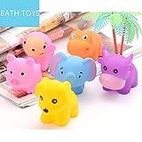 Juguetes de baño,Morbuy Juguetes de baño para bebés natación del juguete del baño del bebé de la diversión de la ducha chirridos Animales Juguetes para el baño (6pcs Juguetes de baño B)