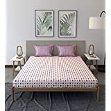 Trident Comfort Living 100% Cotton Double Bedsheet with 2 Pillow Covers Somerville Pink