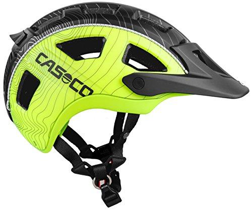 Casco Helm 1304Fahrrad Helm, Unisex Erwachsene L Schwarz/Gelb (negro/Neon yellow)