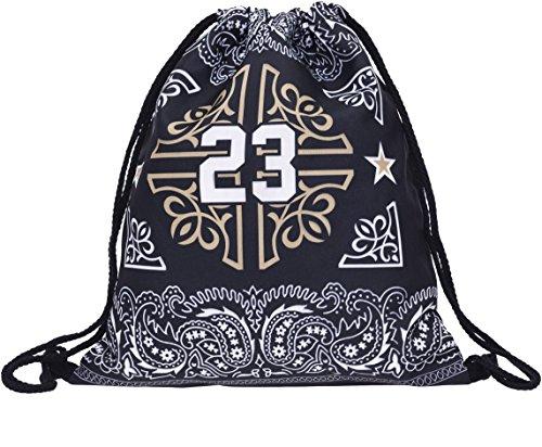 Beutel Bandana 24 Paisley Muster Turnbeutel Gym Bag Gymsack Sack Rucksack Hipster Festival Tasche Jutebeutel Sack Loomiloo¨ (Bandana-druck-kleidung)