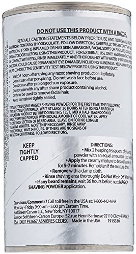 Magic Platinum Shaving Powder 4.5oz. Skin Conditioning by Magic