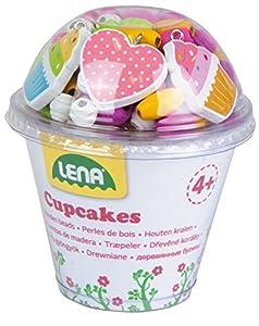 Lena 32002Cupcakes Juego de Manualidades, Color Rosa