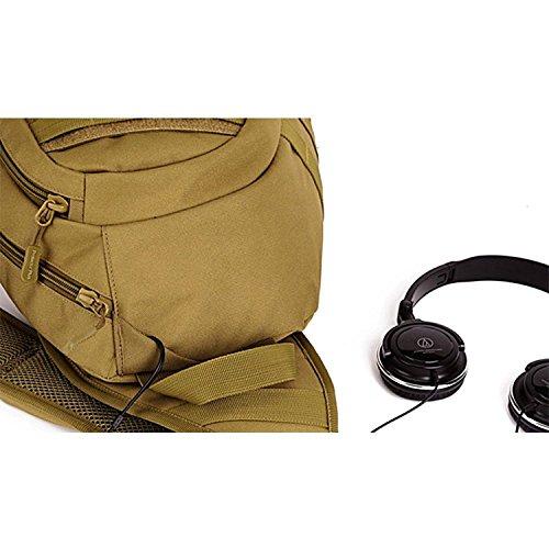 Imagen de hombre mujer bolsa táctico militar bolsa de pecho bolso al hombro bolsa impermeable al aire libre para ocio deporte senderismo bolsa , marrón oscuro alternativa