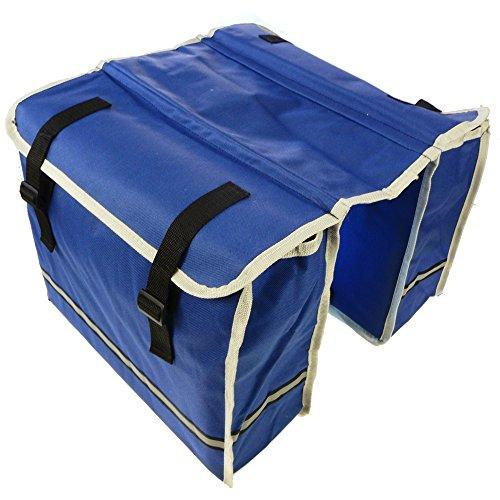 Gepäckträgertasche Doppeltasche Fahrradtasche Seitentasche | verschiedene Muster Farben Blau