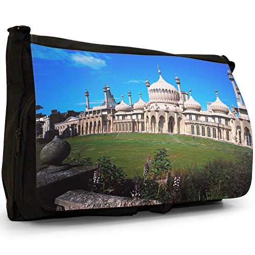 Fancy A Bag Borsa Messenger nero Cow Magnificent Grand 'Royal' Brighton Pavilion