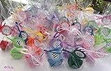10 Glückskekse aus Filz als Gastgeschenk, Partygeschenk, Geburtstagsgeschenk, für ein Geldgeschenk, Gutschein, verpackt mit Spruch
