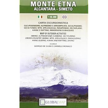 Monte Etna, Alcantara, Simeto. Carta Escursionistica 1:50.000