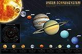 1art1 97440 Das Sonnensystem - Unser Sonnensystem XXL Poster 120 x 80 cm