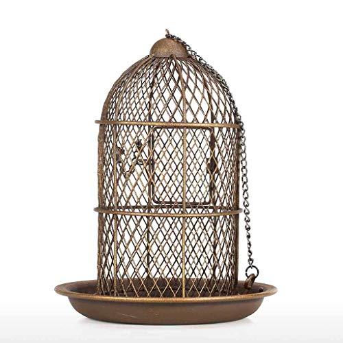 JXXDDQ Mangeoire à Oiseaux en Forme de Cage à Oiseaux Suspendu mangeoire à Oiseaux Sauvages Jardin arrière Jardin ménage décoration Faite Main Oiseau Cadeau Artisanat