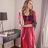 YAN Vestido de Kimono de Vestir de Las Mujeres, Traje de Baño de Satén Corto Albornoz Dama de Honor Ropa de Dormir de la Boda Pijamas Ropa de Dormir Busto 106 cm (Color : 2)