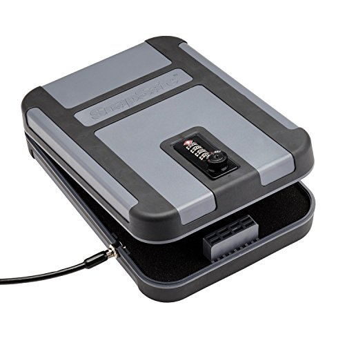 SnapSafe treklite Lock Box mit conbination Lock, X-Large 75241, tragbar Polycarbonat Pistolen Safe & Fall, TSA & CA doj zugelassen, Maßnahmen 25cm x 18cm x 5cm (Speicher-lock-box-set)