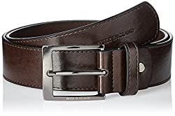 Peter England Mens Synthetic Belt (8907495140247_RL51691476_Large_Brown)