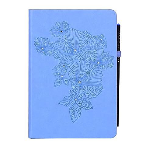 Doodle Blooming Jewel ordinateur portable, PU Cuir, Coque rigide, ligné,