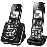 Panasonic KX-TGD312 - Teléfono Inalámbrico Digital Dúo (LCD, Identificador de Llamadas, Agenda de 120 Números, Bloqueo de Llamada, Modo ECO, Reducción de Ruido) Color Negro