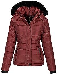 Navahoo warme Damen Winter Jacke Parka Mantel Stepp Kurzjacke gefüttert B301