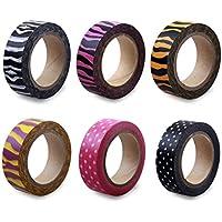 Lolliz® Washi tape - Baby Shower set con sei rotoli di divertimento e festive Colors