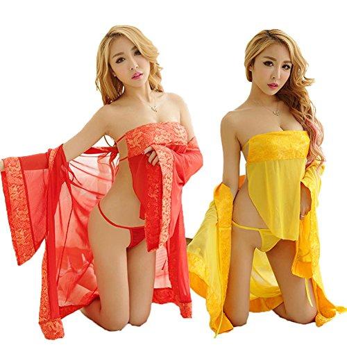 SEX PLAY Costume Maglia Kimono Rosso Stile