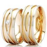 Eheringe 585/- Weißgold Rotgold R-711 - EC84 Gold