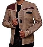 The Force Awakens Finn Jacket - Star Wars John Boyega Pilot Jacket (L, Antique Beige)