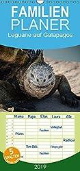 Leguane auf Galapagos - Familienplaner hoch (Wandkalender 2019 21 cm x 45 cm hoch): Urzeitliche Leguane auf den Galapagos Inseln (Monatskalender, 14 Seiten )