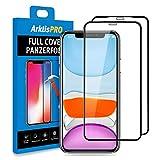 Arktis Panzerglas Panzerfolie [Full Cover Glas] Schutzfolie kompatibel mit iPhone 11 vorne [Anti Bruch] Displayschutzfolie 9H Härte [Hüllenfreundlich] - 2er Set