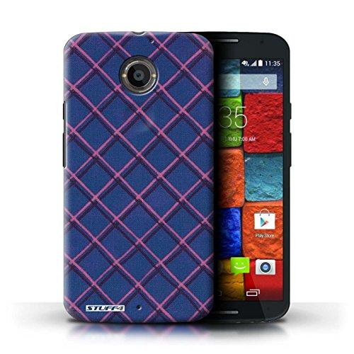 Kobalt® Imprimé Etui / Coque pour Motorola Moto X (2014) / Jaune/Noir conception / Série Motif Entrecroisé Bleu