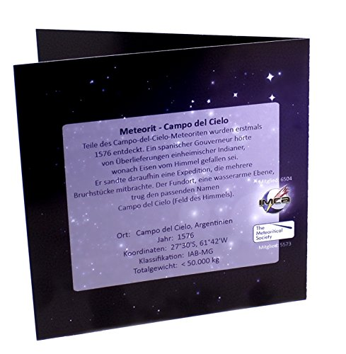echter Meteorit in Spirale inkl. Halsband und Echtsheitszertifikat in Geschenkbox