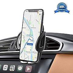 Idea Regalo - Supporto Auto Smartphone 360 Gradi di Rotazione IZUKU [Garanzia a Vita] Porta Cellulare Auto per telefoni